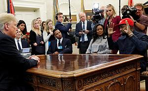 早安·世界|美歌手與總統尬聊展嘻哈功力,特朗普插不上嘴