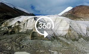 全景视频|跟随专家上玉珠峰,在冰川上科考采集样本