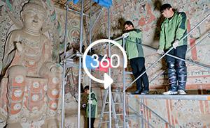 全景视频|敦煌莫高窟数字化保护工程,逐行逐格采集壁画