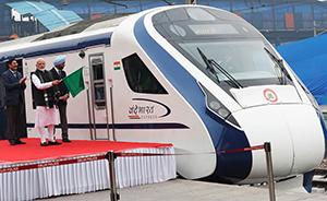 早安·世界 快进乌龙后,莫迪出席印度最快国产列车首发式