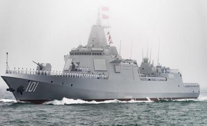 国防部:055型导弹驱逐舰首舰南昌舰即将入列