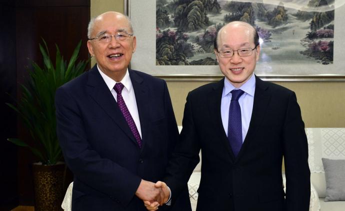 劉結一會見中國國民黨前主席吳伯雄
