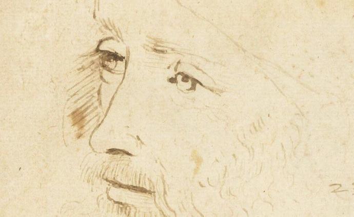 """這幅達·芬奇暮年肖像是最接近他的""""快照"""",憂郁而有思想"""