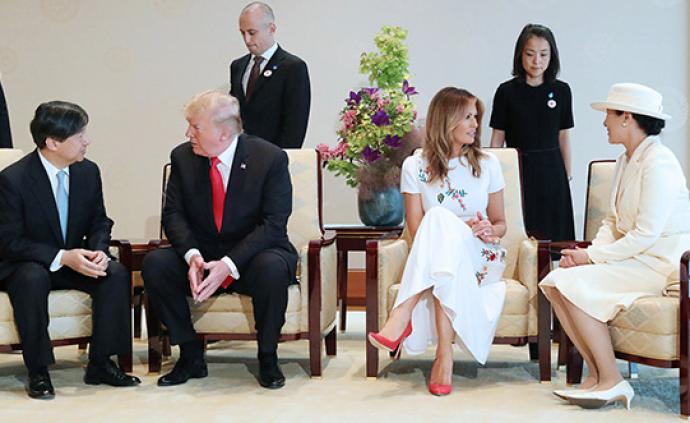 日媒曝天皇夫婦首次接待國賓細節:皇后用英語問候特朗普夫人