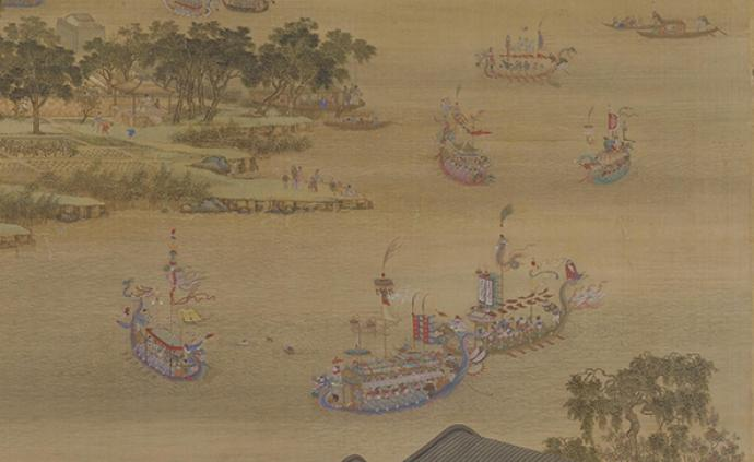 """古画中的""""龙舟竞渡?#20445;?#23435;元以前并不只在端午"""