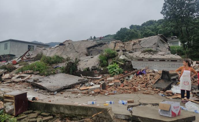 视频直播丨长宁地震中受损的葡萄井重新蓄水,村庄重建正进行