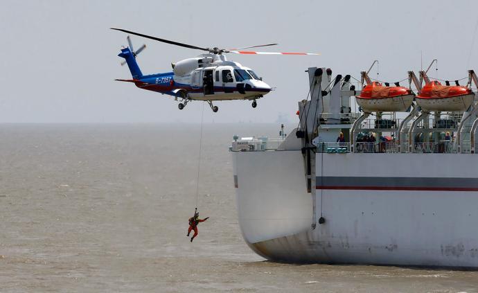 直击丨31艘船艇3架飞机190人参与上海国际邮轮救生演习