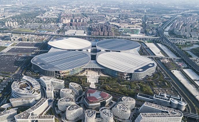 """上?!八娜~草""""變大:國展中心室內展覽面積將達46萬平方米"""