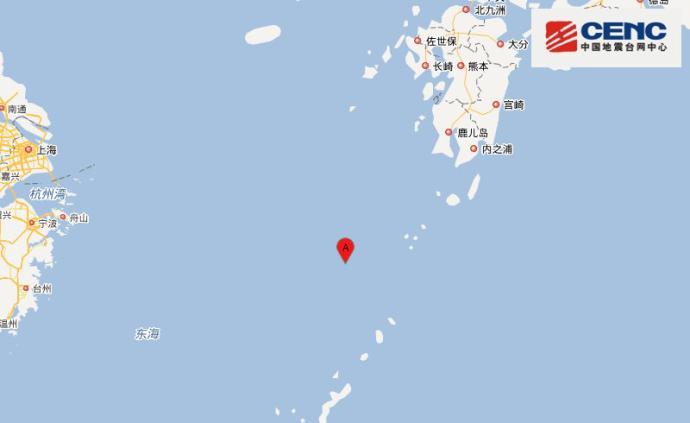 中國東海海域發生6.0級地震,震源深度230千米