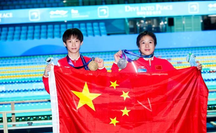 """中国跳水重夺女子10米台冠军,14岁""""上海小囡""""一鸣惊人"""
