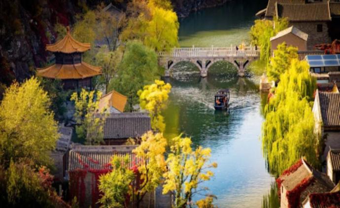 长城下的红叶小镇,北京浪漫的秋天在这里