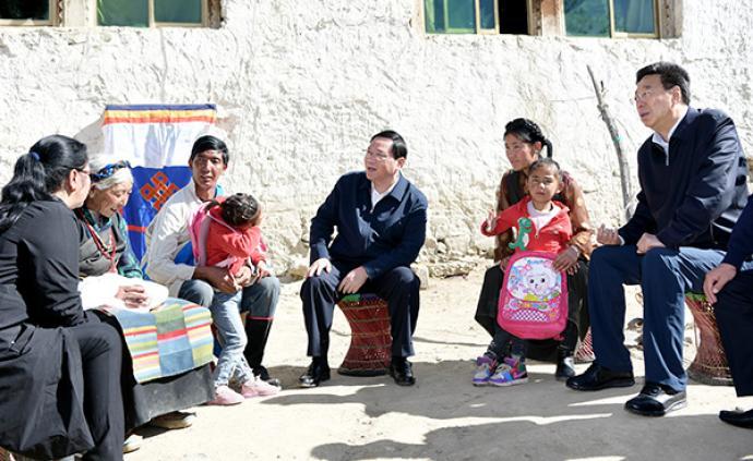 同当地人民一道坚决打赢脱贫攻坚战!李强率团赴藏学习考察