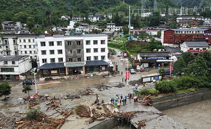 四川汶川山洪泥石流災害已致9人遇難,35人失聯