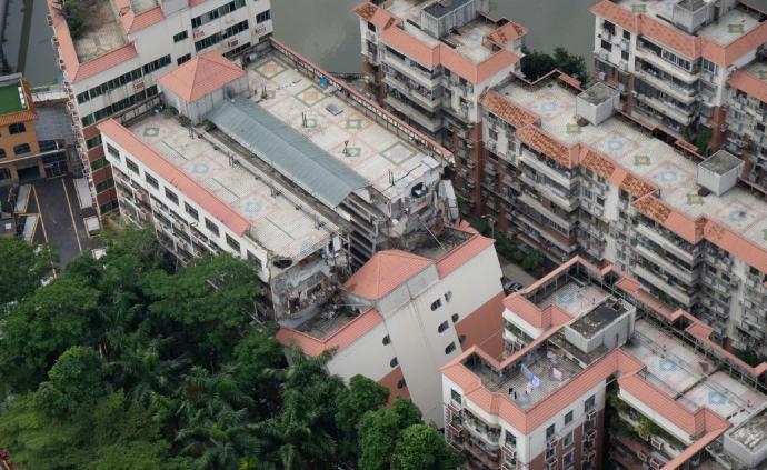 深圳市羅湖區宣傳部:已拆除和平新居公寓樓體下沉傾斜部分