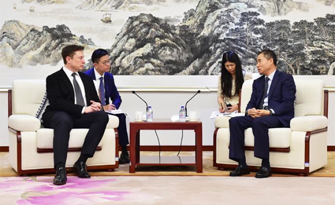 工信部副部長辛國斌會見馬斯克,就特斯拉上海工廠等交換意見