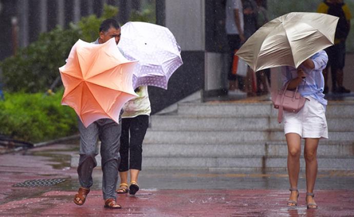 上海发布台风蓝色预警,预计傍晚陆地风力7~8级