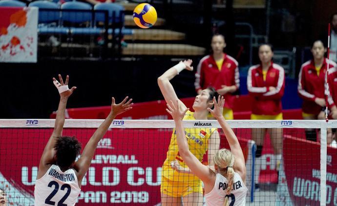 中国女排3-0美国!争冠关键战役,姑娘们赢得太利索了