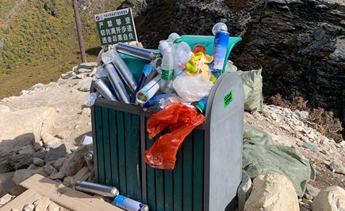 稻城亞丁廢棄氧氣瓶成堆,景區建議別帶:植被豐富,氧氣充足