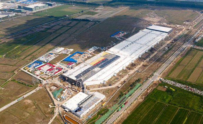 特斯拉上海超级工厂电力配套项目送电,将进入投产前冲刺阶段