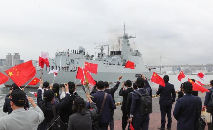 靖海略洋|太原艦與海自驅逐艦聯合訓練,中日防務關系升溫