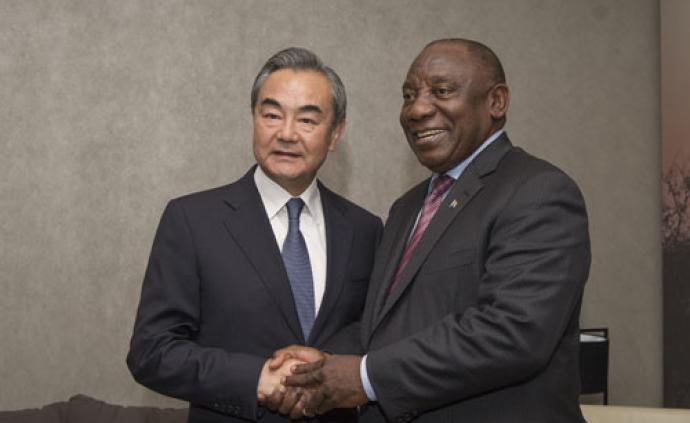 南非總統拉馬福薩會見王毅