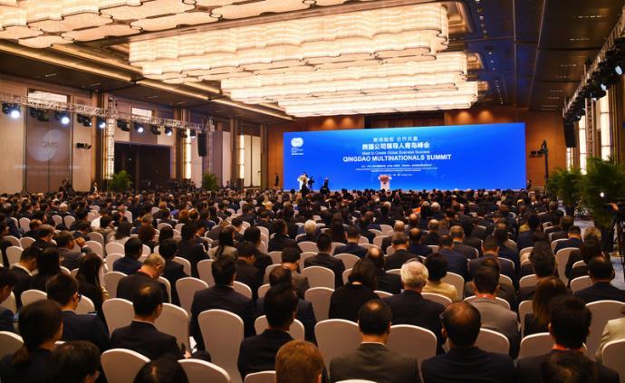 韩正出席跨国公司领导人青岛峰会开幕式