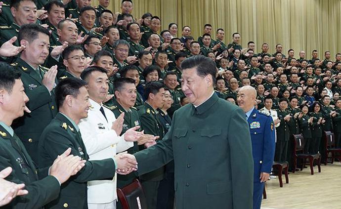 習近平接見聯勤保障部隊黨代會代表、駐湖北部隊領導干部