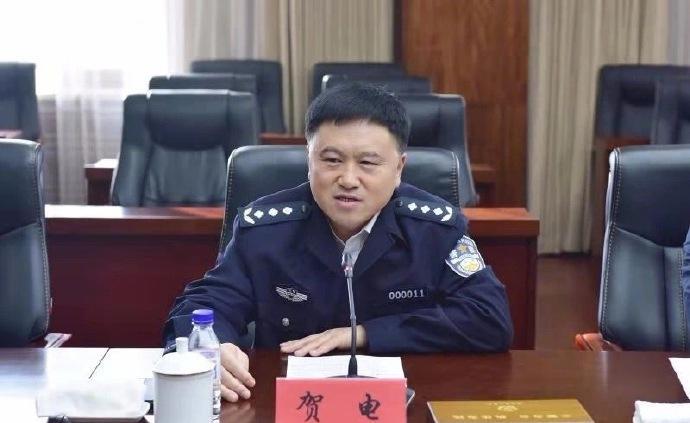 賀電任吉林省公安廳黨委副書記、常務副廳長