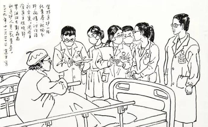 暖聞|書畫家患病獲悉心照料,出院后手繪漫畫向醫院致謝