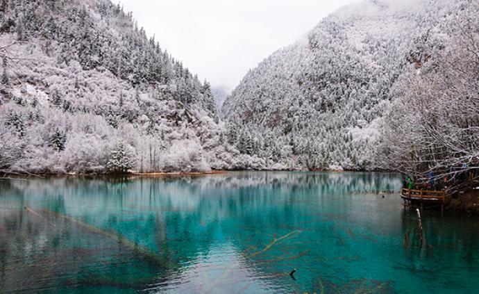 散客开放了,九寨沟景区的冬天也很美