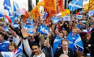 民调显示支持苏格兰独立民众首次接近半数