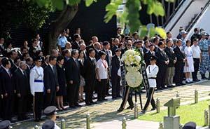 """香港特区政府首次与内地""""同步""""举行抗战胜利日纪念仪式"""