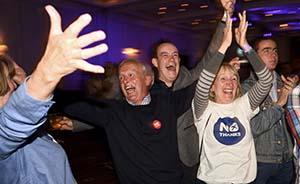 苏格兰公投否决独立,卡梅伦承诺下放更多内部事务决定权