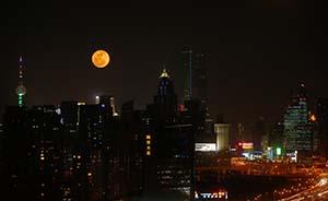"""国庆黄金周后还有美景:10月8日上海夜空将现""""红月亮"""""""