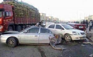 青海兴海发生重大交通事故致9死,重型吊车失控连撞20车