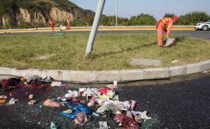 上海致6死43伤客运大巴侧翻事故:司机弯腰捡手机所致