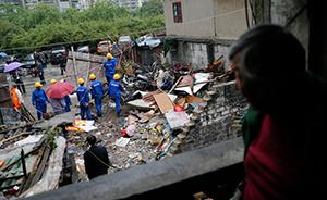 """上海市三层老宅凌晨爆炸倒塌2死3伤 居民称是""""危房"""""""