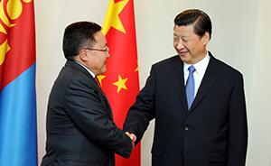 习近平会见蒙古国总统, 蒙方称坚定支持中国