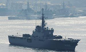 日本自卫队运输舰载美澳军人赴南海参加救援演习