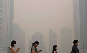 上海去年空气污染日达124天,全年PM2.5日均值超标