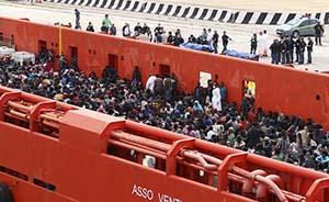 三天救援超过5000名非洲偷渡客,意大利海军伤透了脑筋