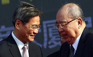 国台办主任张志军会见吴伯雄,一年内会面4次