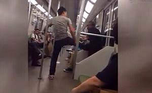 """小伙上海地铁暴打乞讨老人,警方谴责""""以暴治乞""""并将追查"""