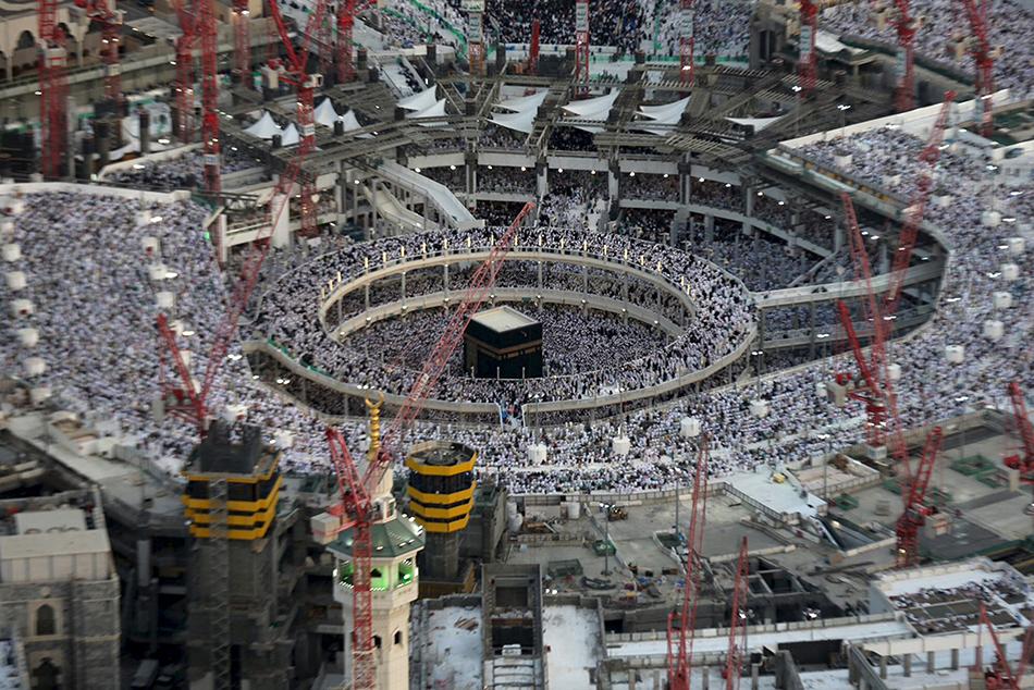 麦加大清真寺吊塔倒塌