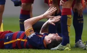 梅西重伤,韧带撕裂!赛前刚被贝利从头到脚大赞过一番