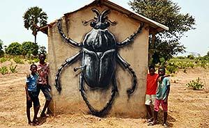 动物保护主义者的涂鸦