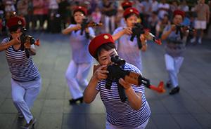 """北京""""打鬼子舞""""大妈:正在编排新节目《到敌人后方去》"""