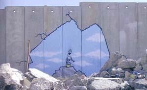 墙在说话,涂鸦的战场在街头