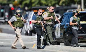 视频录像|美再发枪击事件已致14人死,枪手坐车被打成筛子