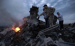 直击马航客机乌俄边境坠毁